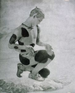 Vaclav Nijinsky as the Faun.